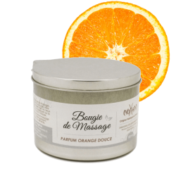 Bougie de massage Orange douce